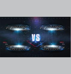 vs versus futuristic design battle headline vector image