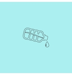 Water bottle with drop icon vector image