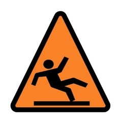 Wet floor - warning sign vector image