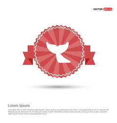 whale tail icon - red ribbon banner vector image
