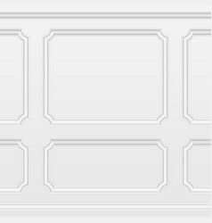 white wall with moulding frames vector image