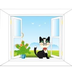 Window in nature vector image