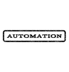 automation watermark stamp vector image