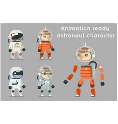 cosmonaut astronaut spaceman space sci-fi icons vector image