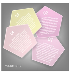 Minimal style infographic template vector image vector image