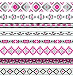 Seamless pattern tribal design ethnic vector