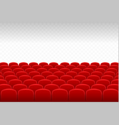 cinema theatre rows of red velvet seats with vector image