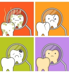 Concept of teeth vector image