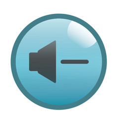 Flat black decrease volume button icon vector