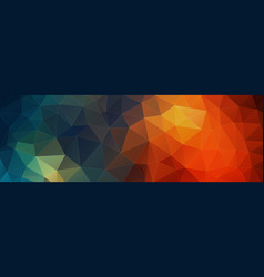 horizontal triangle banner background vector image vector image