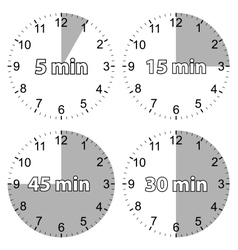 Set hours vector image