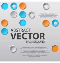 Abstract background with text vector image