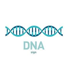 DNA spiral sign vector image vector image