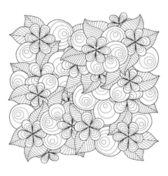 Doodle background in with doodles flowers vector image