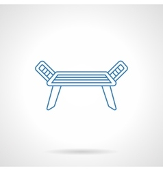 Dress dryer blue flat line icon vector image