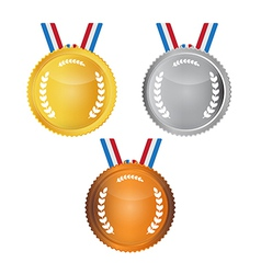 Medals Set Isolated on White Background vector image vector image