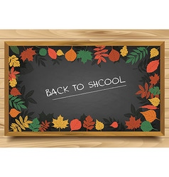 school Board in a frame of leaves vector image