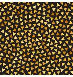 Seamless Golden Gradient Triangle Shape vector image