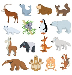 Various Wildlife Animals set vector image