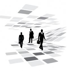 walking business people vector image vector image