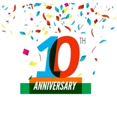 Anniversary design 10th icon anniversary vector image vector image
