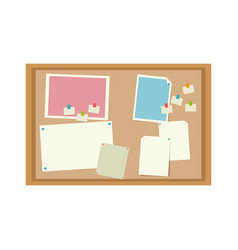 cork board with notes message office image vector image
