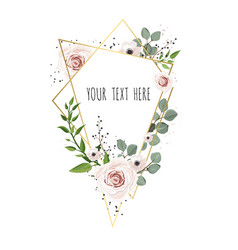 floral card design with elegant bouquet vector image