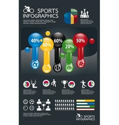 infographic spots set vector image