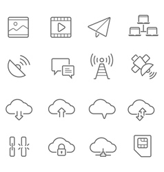 Lines icon set - network communication vector image vector image