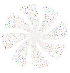 pin fireworks swirl flower vector image vector image