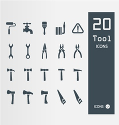 Tool icon set Set of 64 Quality icons vector image