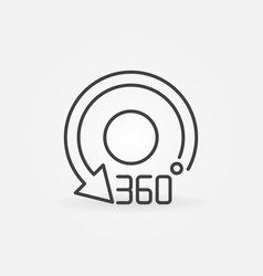 360 degrees arrow rotation linear concept symbol vector