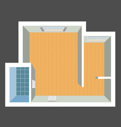 architectural color floor plan vector image