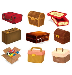 Bags and boxes vector image