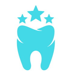 beautiful tooth logo icon flat style vector image