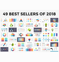 Best infographic templates 2018 presentation vector