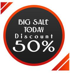 big sale today discount 50 circle frame im vector image