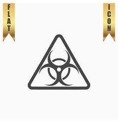 biohazard symbol icon isolated vector image