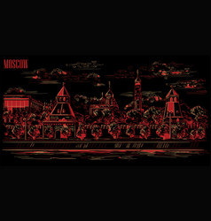 black-red moscow-5 vector image