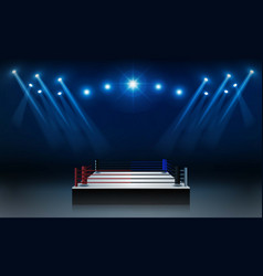 Boxing ring arena vs letters for sports and fight vector