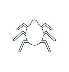 bug silhouette icon vector image