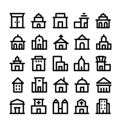 Buildings and Furniture Icons 1 vector image