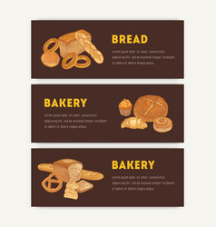 bundle web banner templates with different vector image