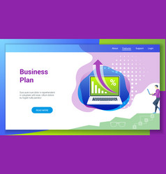 business plan flat design concept2 vector image