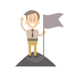 Businessman in flat style vector
