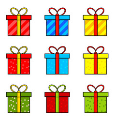 christmas present simple icon for christmas vector image