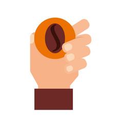 coffee grain isolated icon vector image