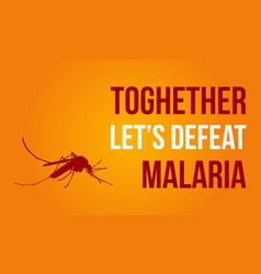 Collection of malaria day style vector