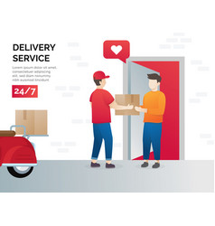 concept of freight forwarding service vector image