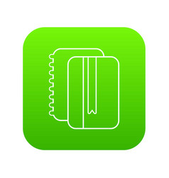 copy book icon green vector image